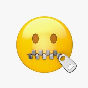 Apple Zipper-Mouth Face 3D model