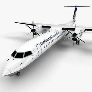 CONTINENTAL CONNECTION Bombardier DHC-8 Q400 Dash 8 L1496 3D model