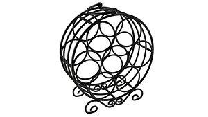 Circular Wine Rack 3D