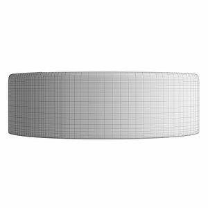3D table wash basin oval