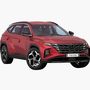 3D Hyundai Tucson US 2021 model