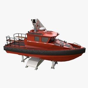 3D trident davit boat ship