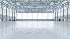 3D interior hangar