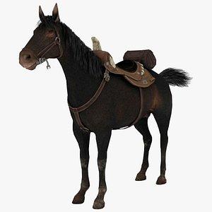 3D model 3D model Brown Horse Rigged 3D
