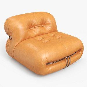 3D Soriana Lounge Chair Leather NA