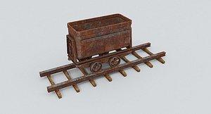 Mine Wagon 8 3D model