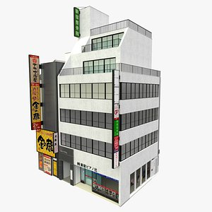 Tokyo Japanese Modern Building 3D model
