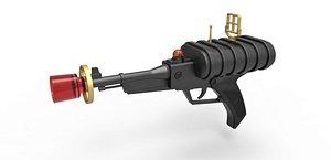 laser pistol space 3D model