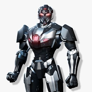 sci-fi robotic character 3D