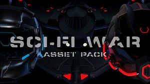Sci-Fi War - Asset Pack - Blender and FBX model
