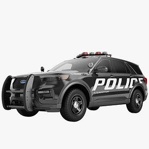 Ford Explorer 2020 Police 01 3D model