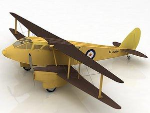 De Havilland DH-89 Dragon Rapide Aircraft 3D model