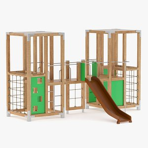 3D Lappset Halo Twin Play Tower model