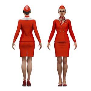 3D stewardess cat rig