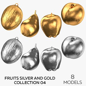 Fruits Silver and Gold Collection 04 - 8 3D model