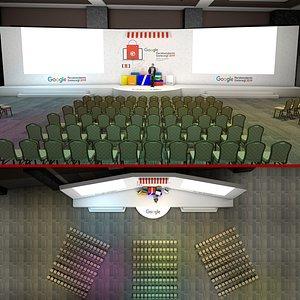 3D hotel meeting room model