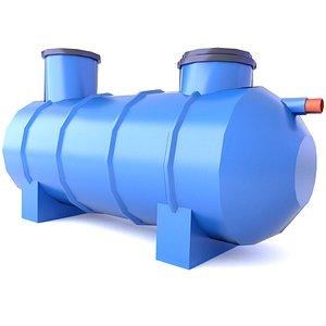 Sewage Treatment Plant Game LowPoly 3D 4 3D