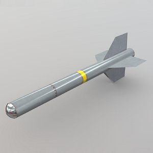 Air to Air Missile Low-poly 3D model
