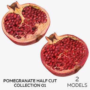Pomegranate Half Cut Collection 01 - 2 models 3D model