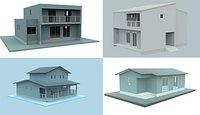 4 Pack of 3D Modern House