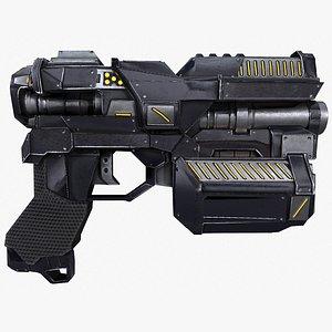 handgun pistol hand cannon 3D