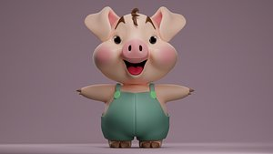Cute Little Pig model