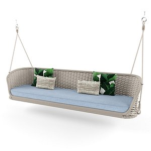 3D 2 seater garden hanging chair By Atmosphera