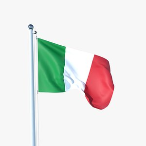 3D model Animated Flag of Italy