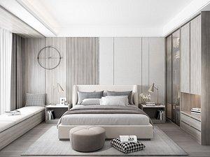 3D Modern Style Bedroom - 625 model