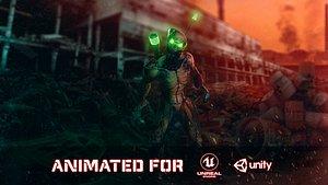 3D Techno-Zombie
