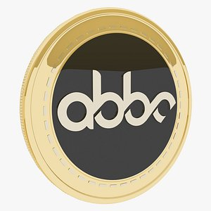 Abbc Cryptocurrency Gold Coin 3D model