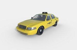 Low Poly Car - New York Taxi 2005 3D