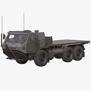 3D Armored Concept Flatbed Truck