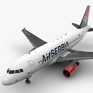 3D AirbusA319-100AIR SERBIAL1401 model