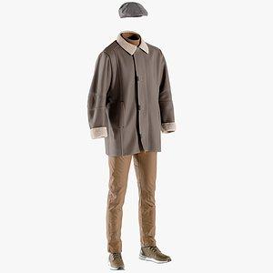 3D pants coat boots