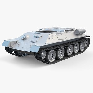 T-34-85 Tank Chassis High-Poly model