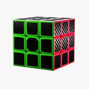 Realistic Rubiks Cube 3D model