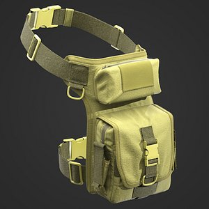 3D Soldier Tactical Bag model