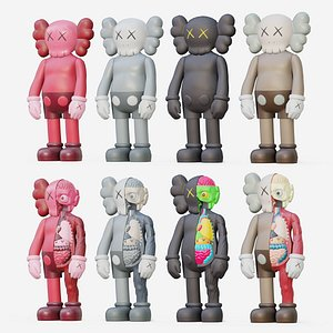3D KAWS Flayed Lowpoly PBR version model