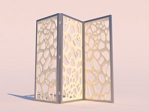 organic decorative wall partition model