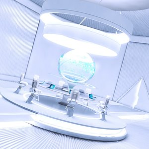 meeting futuristic room 3D model