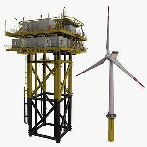 offshore wind farm 3D