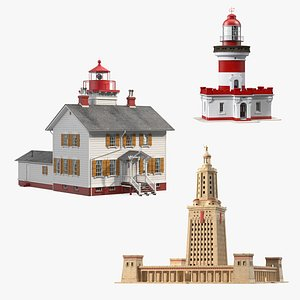 Lighthouses Collection 3D model