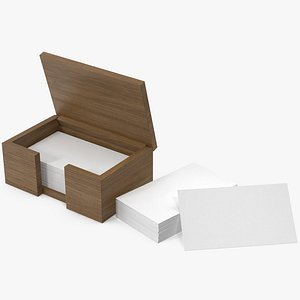 3D business cards box model