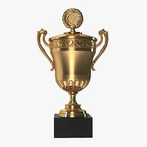 3D award cup sport