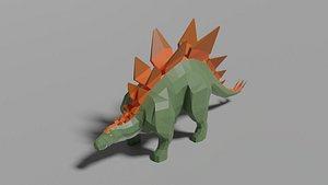 Low-poly Stegosaurus 3D