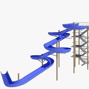waterslide water 3D model