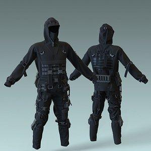 Tactical Outfit Marvelous Designer projec 3D model