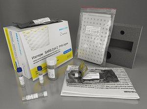3D test sars-covi-2 coronovirus