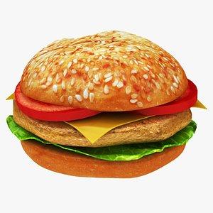 3D chicken burger